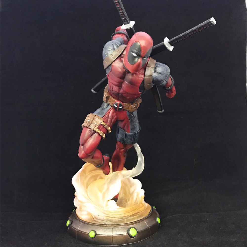 Free Shipping 10.6 X-MEN The Deadpool 2nd Battle Ver. High Quality Boxed 27cm PVC Action Figure Collection Model Doll Toy Gift
