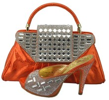 New Charming Italian Shoes With Matching Bags Set High Quality African Shoes And Bags Set To Match For Wedding 1308-36