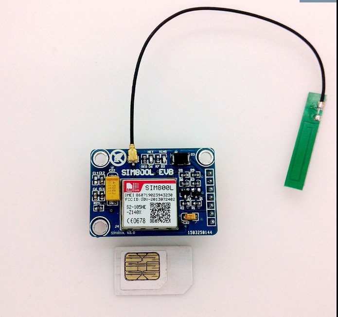 Free ship 2PCS/lot SIM800L module instead SIM900A 4 frequencydata available in the world with PCB antenna GSM GPRS module