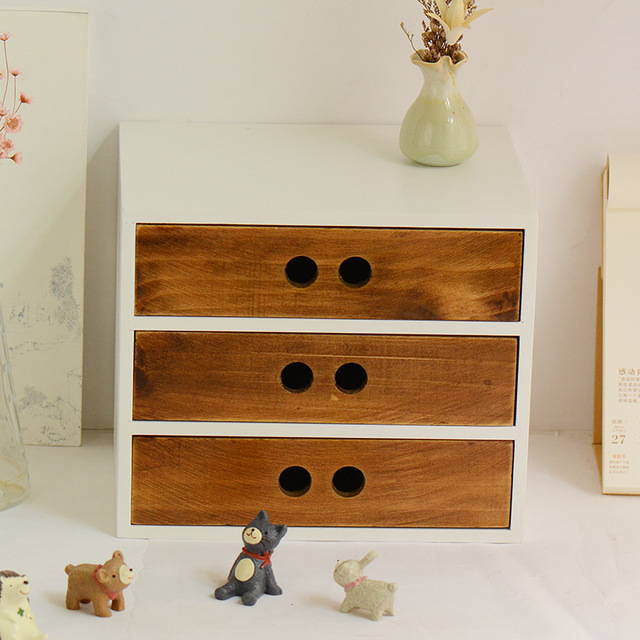 Superieur DIY Wooden Box Cosmetic Drawer Makeup Organizer Case Storage The Insert  Holder Box,Jewelry Stationery