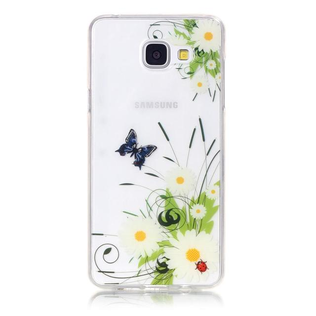 Fleur Crâne Pour Coque Samsung Galaxy A3 2016 Étui En Silicone Transparent Couverture Arrière Samsung Galaxy A3 2016 Cas TPU Téléphone couverture