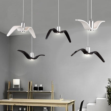 Creative resin seagull led pendant lights modern droplight hot hanglamp fixtures for home lightings cafe bar