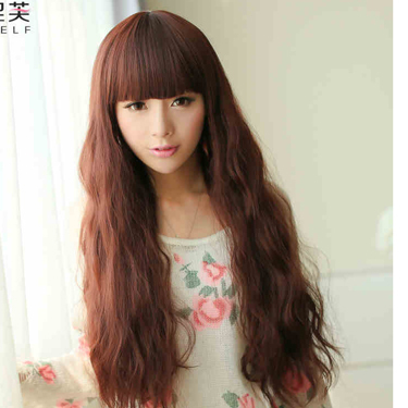 Harajuku Style African Fashion Corn Hot Cosplay Wig Long Curly Wavy