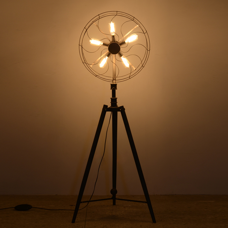 Creative design fan lamp floor lamp for living room country style ...