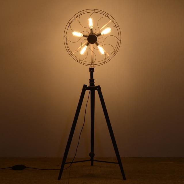 creative design fan lamp floor lamp for living room country style fan light standing lights for - Standing Lights For Living Room