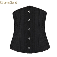 New Black Sexy Underbust Corset Sexy Corselet Latex Waist Corsets Cincher Women Body Shapewear Gothic Corsets