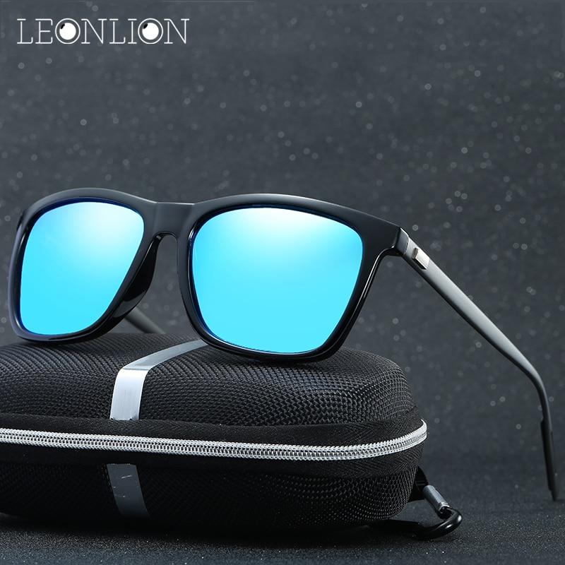 LeonLion 2019 Módní Top Značkové Sluneční Brýle Muži Ženy Jízdní Polarizované Klasické Retro Kovové Brýle Mužské Brýle UV400