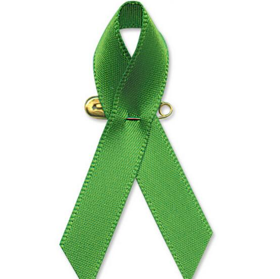 US $66 5 5% OFF|500pcs Green Satin Awareness Ribbon Pins Free Shipping-in  Women's Hair Accessories from Apparel Accessories on Aliexpress com |
