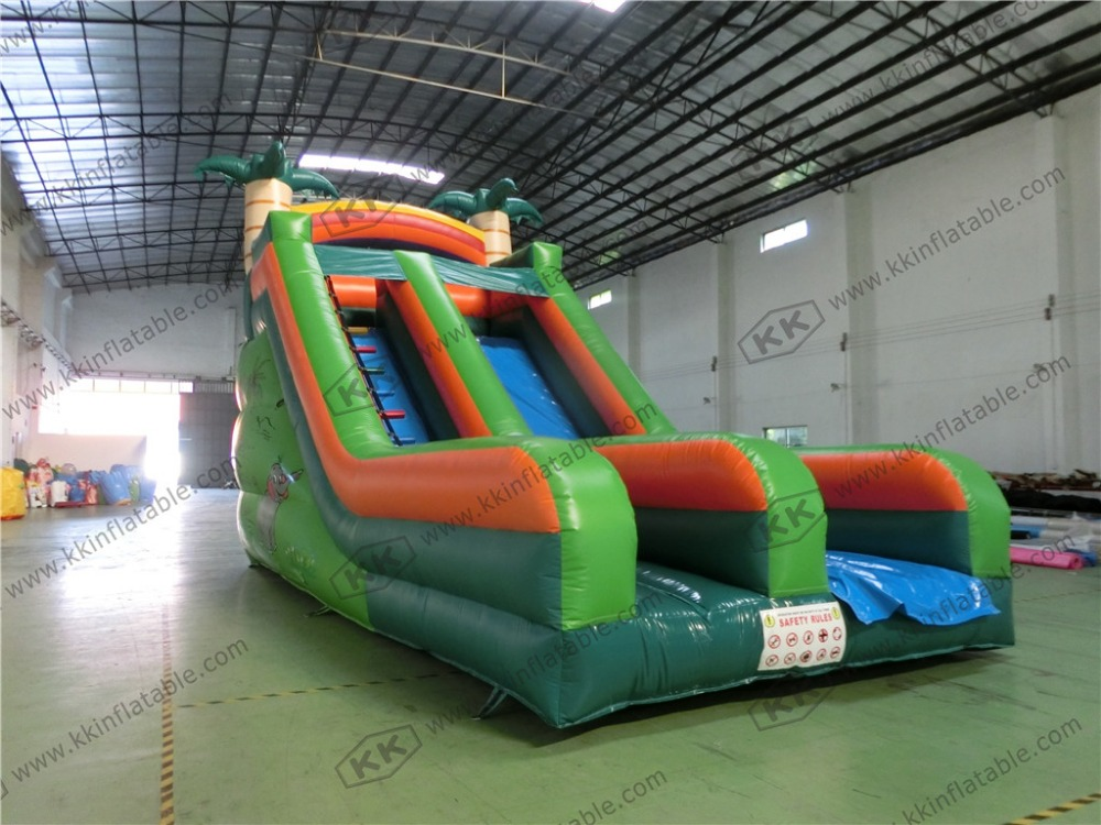 inflatable slide for children tropical plam tree slide