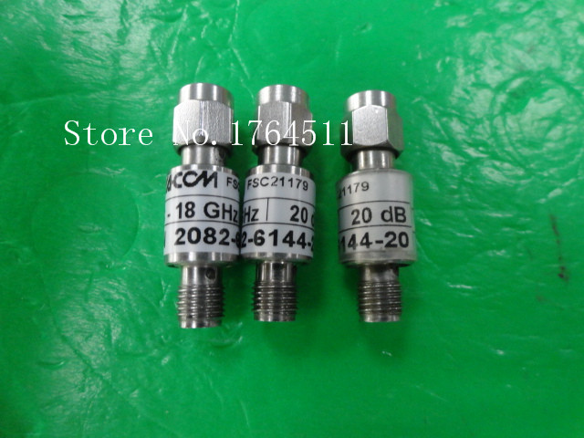 [BELLA] M/A-COM 2082-6144-20 DC-18GHZ 20dB 2W SMA RF Coaxial Fixed Attenuator  --2PCS/LOT