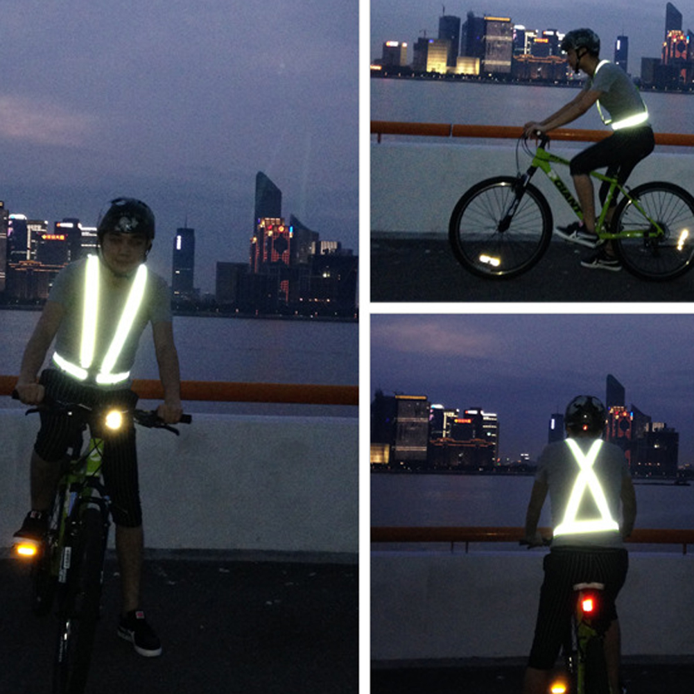 Back To Search Resultssports & Entertainment Sporting Zk20 Dropshipping Unisex Outdoor Cycling Safety Vest Bike Ribbon Bicycle Light Reflecting Elastic Harness For Night Activities Cycling