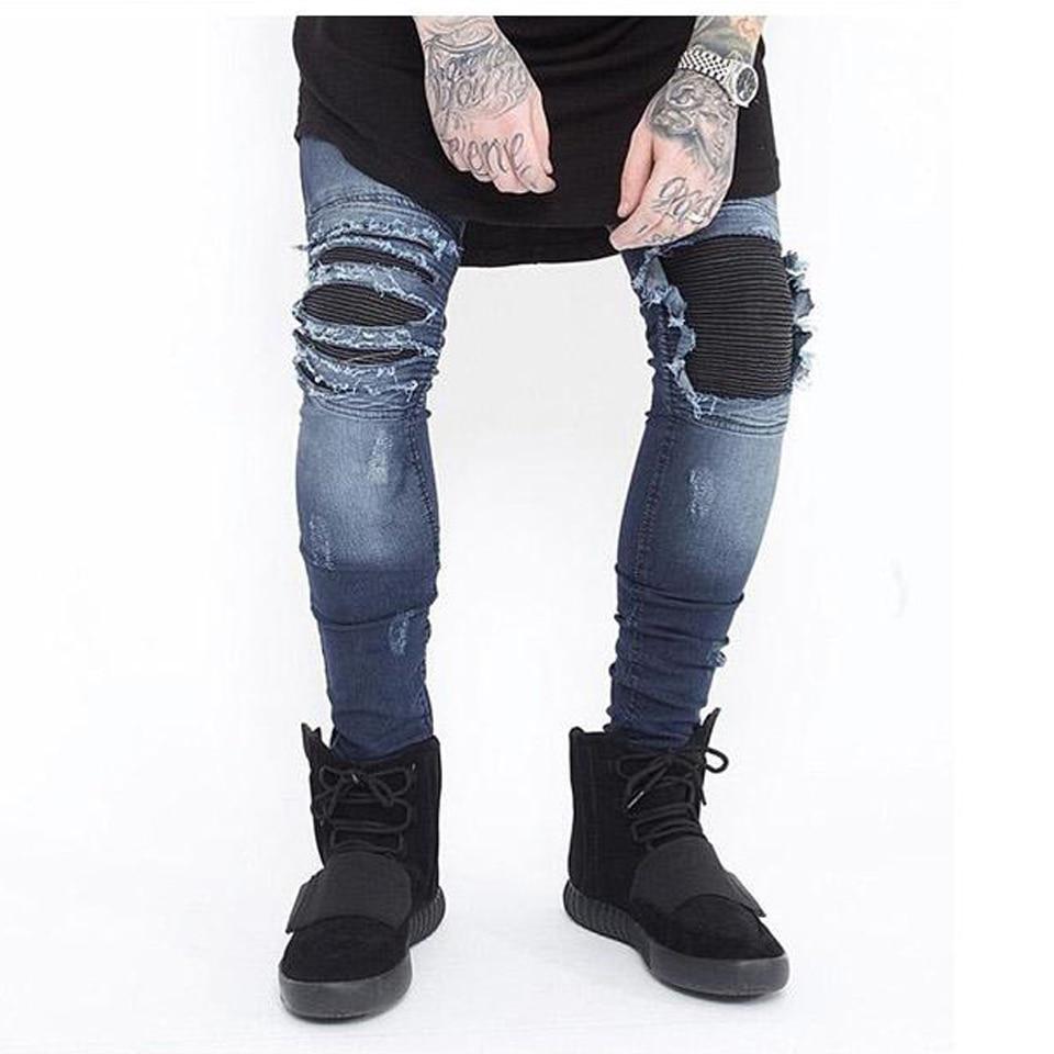 Kanye Style Black /White Ripped Skinny Jeans | ChinaOriginals.com
