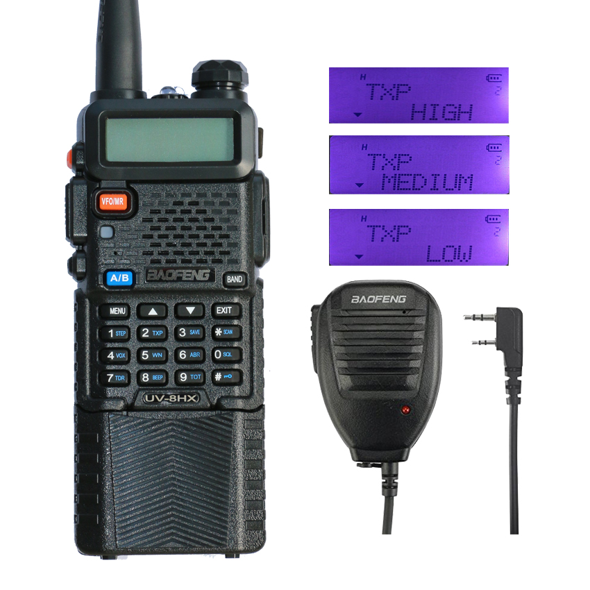 Baofeng Radio UV-8HX 8 W talkie-walkie Ver BFP3-23 double bande Baofeng 5R PTT CB Radio 128CH Portable jambon Radio UV-5R Comunicador