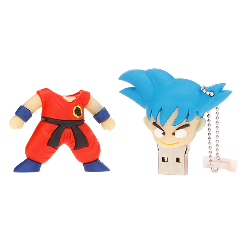 2019 New Cartoon Usb Flash Drive Dragon Ball Goku Pen Drive 128gb 4gb 8gb 16gb 32gb 64gb High Speed Pendrive Creativos Gift