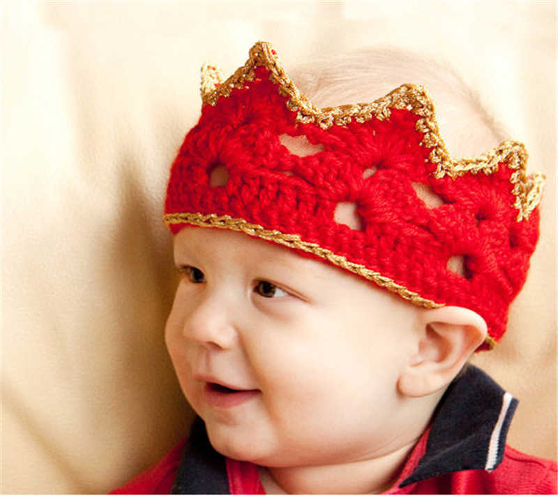 יילוד תינוק סרוג כובעי Bebe תינוקות בעבודת יד במסרגה סרט קשת צבעוני גומייה לשיער לפעוטות אבזרי תמונה