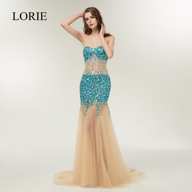 Bling Mermaid Party Dress 2019 Vestidos Largos Crystals Evening Gowns for Women Special Occasion Wedding Formal Prom Dresses