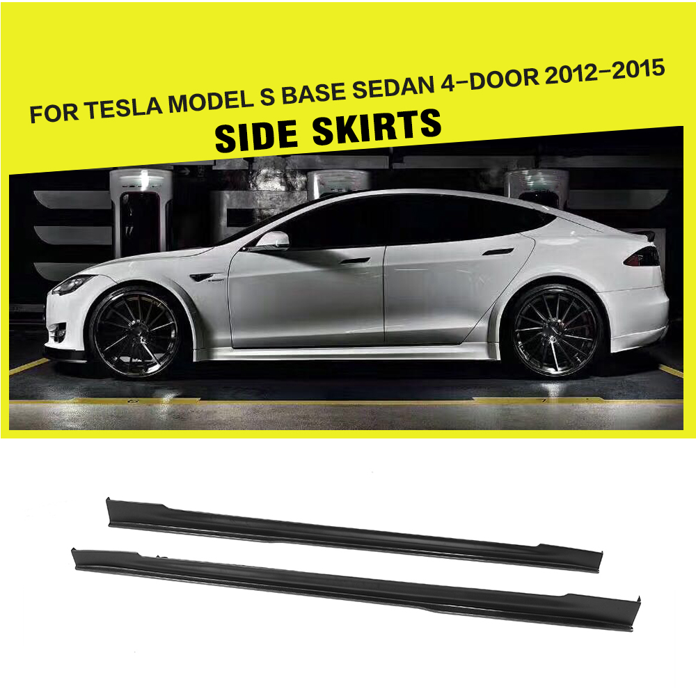 Tesla Wallpapers Group 85: Carbon Fiber Side Skirts Aprons For Tesla Model S Base 70