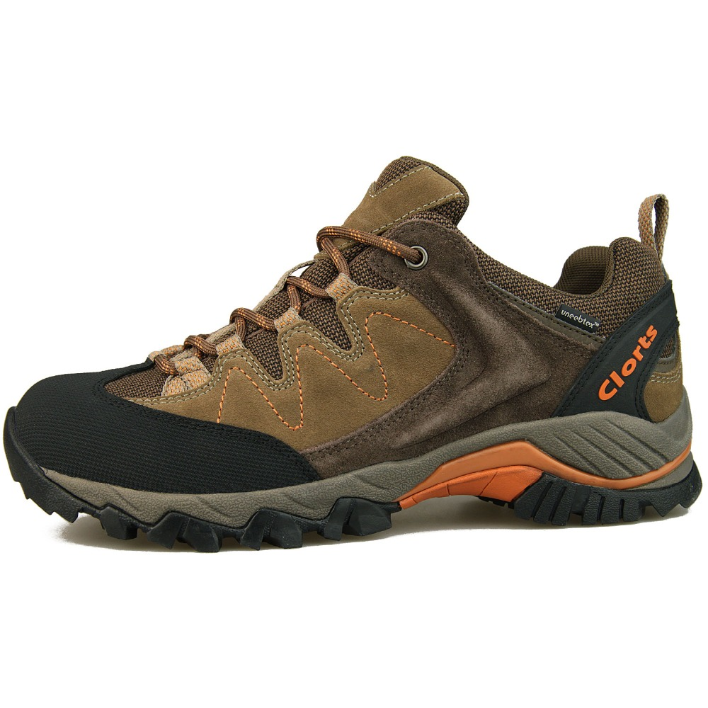 Clorts Outdoor shoes Men Trekking Boots Waterproof Hiking Shoes Suede Leather Sneaker Mountain Hiking Boots  HKL806F clorts women hiking shoes outdoor trekking shoes waterproof lace up mountain shoes suede leather female climbing shoes hkl 826e