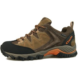 Clorts Outdoor shoes Men Trekking Boots Waterproof Hiking Shoes Suede Leather Sneaker Mountain Hiking Boots HKL806F