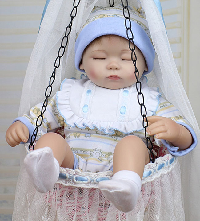2016 hot sale Big Handmade Doll For Kids 17/45cm Realistic Soft Silicone Reborn Baby Dolls NPK Product