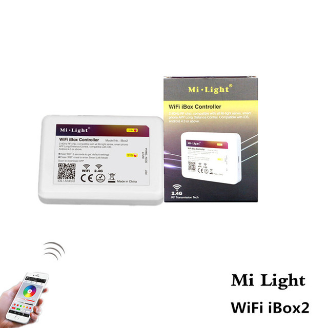 ASMTLED New Mi Light WiFi Controller 2.4G Wireless WiFi IOS Android APP  Control For Mi Design