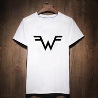 Weezer Print T Shirt Male Tshirt Men Tee Shirts Punk Rock Music Rock Heavy Metal Music