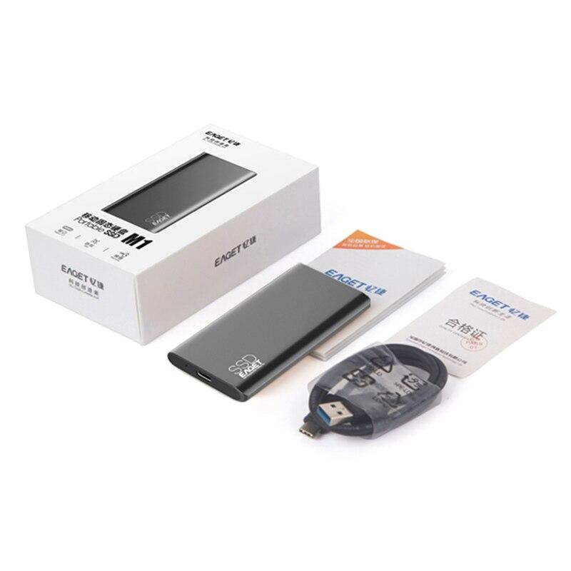 EAGET M1 plus récent article Portable SSD USB 3.0 128GB 256GB 512GB 1 to lecteur à semi-conducteurs externe meilleur cadeau pour hommes d'affaires - 6