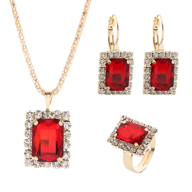 1Set Crystal Necklace...