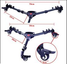 Photography Universal Video Folding Wheels Heavy Duty Slider Pathway Tripod Move Dolly for Camera Stand