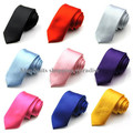 2016 New Men's Tie Necktie 5cm Solid Color Slim Narrow Arrow Ties Skinny Tie Polyester Neckwear Free Shipping 20 Colors