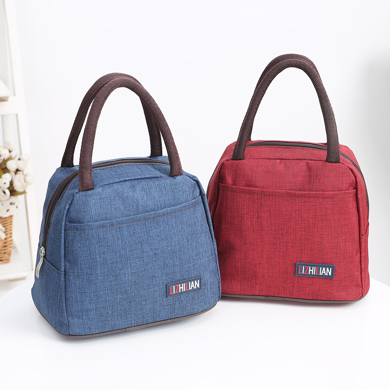 Handbag office portable casual totes high capacity fashion Lunch Bag Canvas Food Picnic Lunch Bag Kids Lunch Box Bag Tote clutch striped tote lunch bag