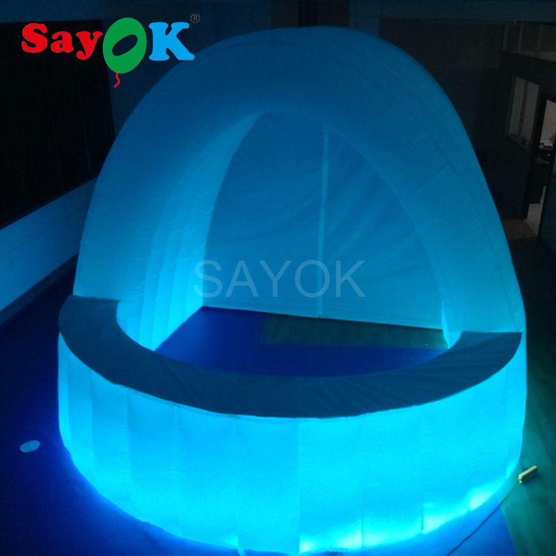 free shipping Led Light Inflatable Bar/Inflatable Bar Counter/Inflatable led bar tent for Wedding Party Decoration