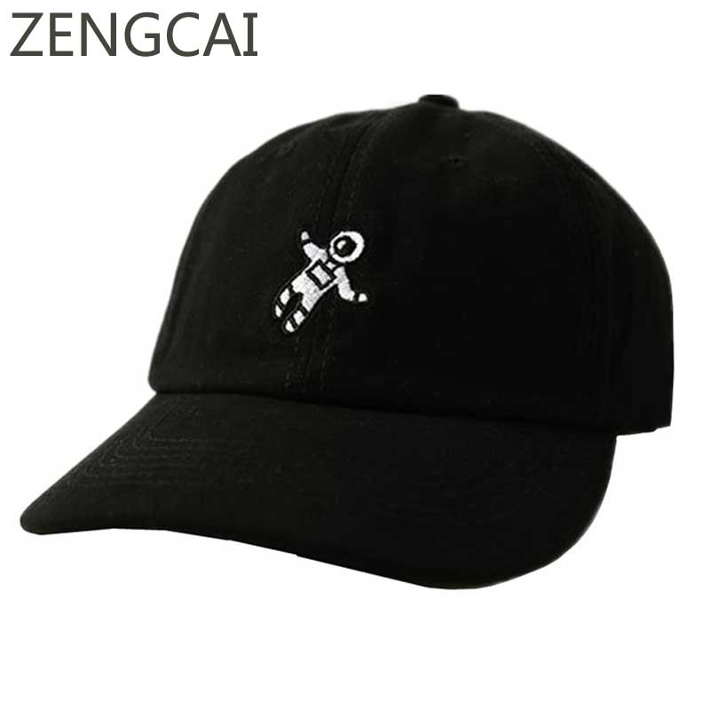 Spaceman Dad Hat Black Snapback Trucker Cap Baseball Caps Men Women Embroidery Hip Hop Unisex Cotton Hats Casual Sun Protection xthree new black rhinestone baseball cap fashion hip hop cap men women s baseball caps super quality unisex hat free shipping
