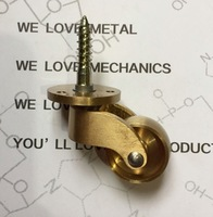 4PCS LOT Copper Casters Foot Wheel Table Metal Piano Wheels Caster Wheel Diameter 25mm
