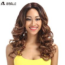 Noble Wigs For Black Women Wavy Synthetic Lace Front Hair 22
