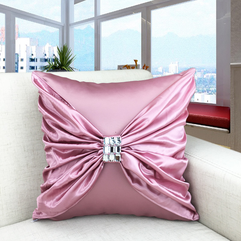 Luxury Silk Pillow Case 45 45cm For Europe Solid Color
