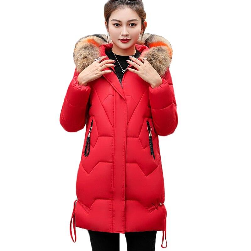 2018 Nuove Donne Giacca Invernale Di Spessore Lungo Le Donne Parka Con Cappuccio Outwear Femminile Cappotto Imbottiture Cotone Imbottito Abbigliamento Da Neve Più Il Formato 3xl Aa338