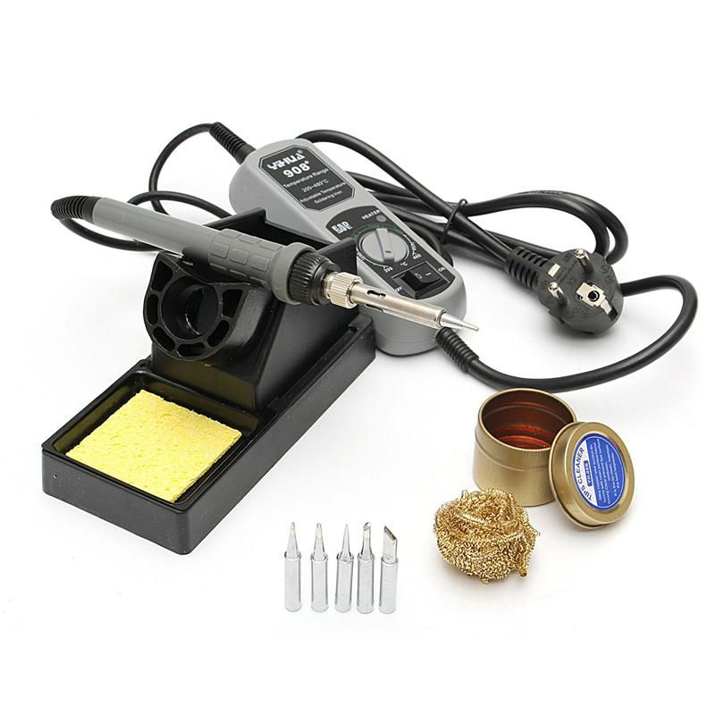 YIHUA 908+ 220V 60W Electric Iron Soldering Station For Welding Rework 1 Set
