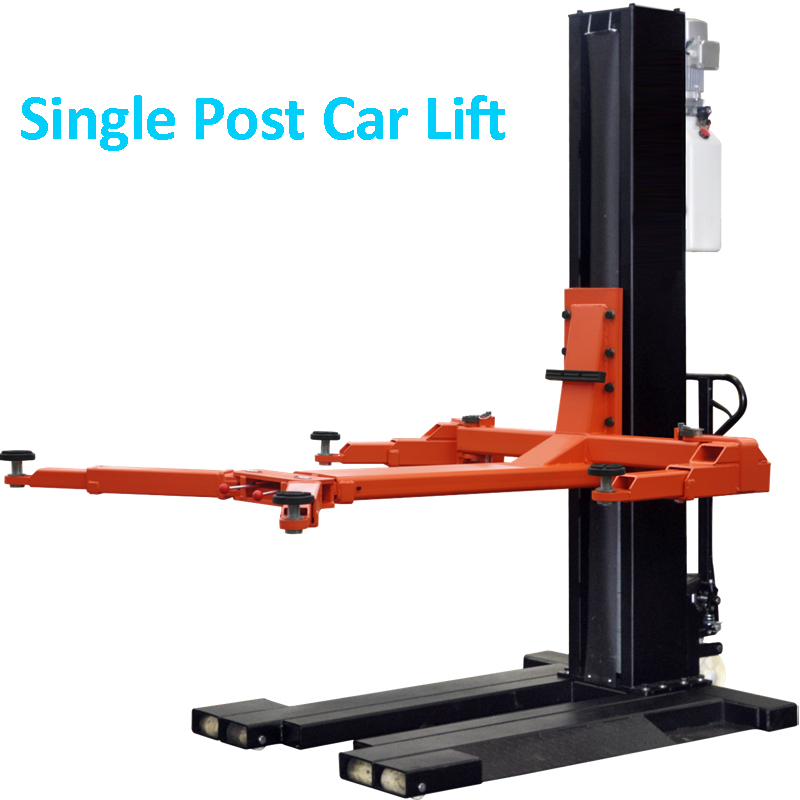 PSJ 2500 Mobile Car Lift Outerdoor Single Post With