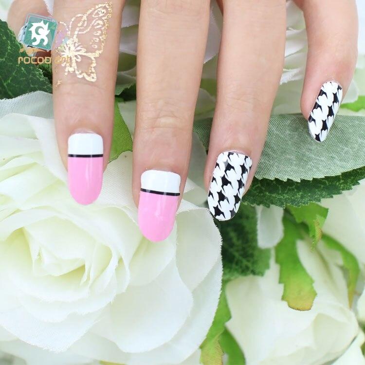 Dibujos animados de color rosa lindo nail wraps sticker diseño para ...