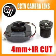 4mm 1080P IR LENS + IR CUT Equipment M12 for Full AHD IP Camera HD CCTV Camera MTV Mount