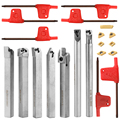 21 PCS 10mm Drehmaschine Bohren Bar Hartmetall Einfügen Schlüssel Gute Zähigkeit Semi-finishing Drehen Werkzeug Halter
