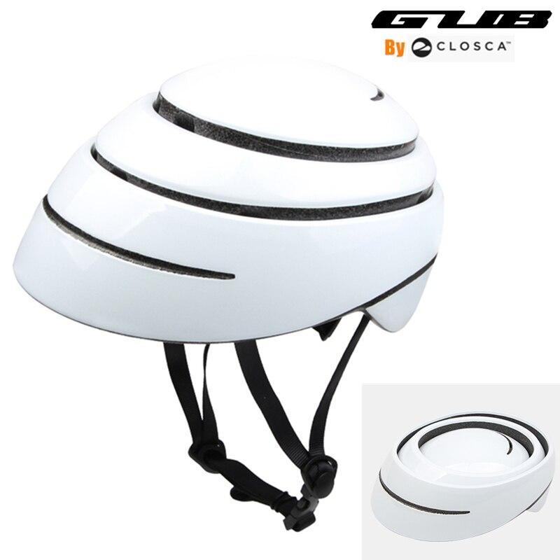GUB Folding helmet Cycling City Bike Urban Bicycle Helmet BMX Fixed Safe Cap Men Women skating Skate Helmet 56 29/60 63cm white