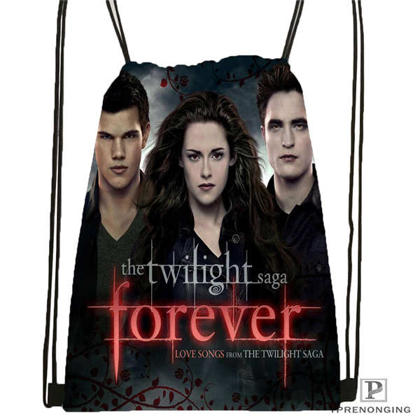 Custom Twilight-vampires-Drawstring Backpack Bag Cute Daypack Kids Satchel (Black Back) 31x40cm#180611-03-128