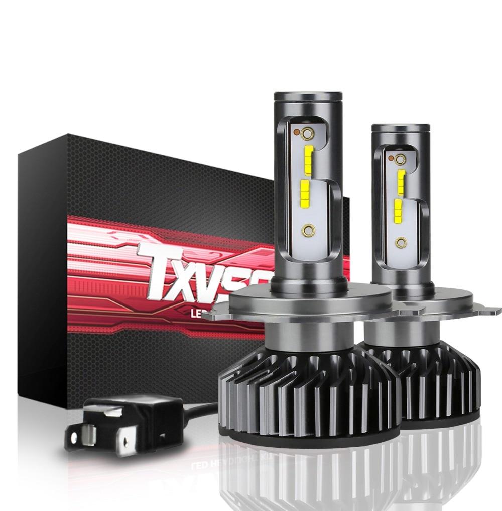 Txvso8 Lampada H4 Led Canbus Car Headlight Kit 6000k No Error 12v
