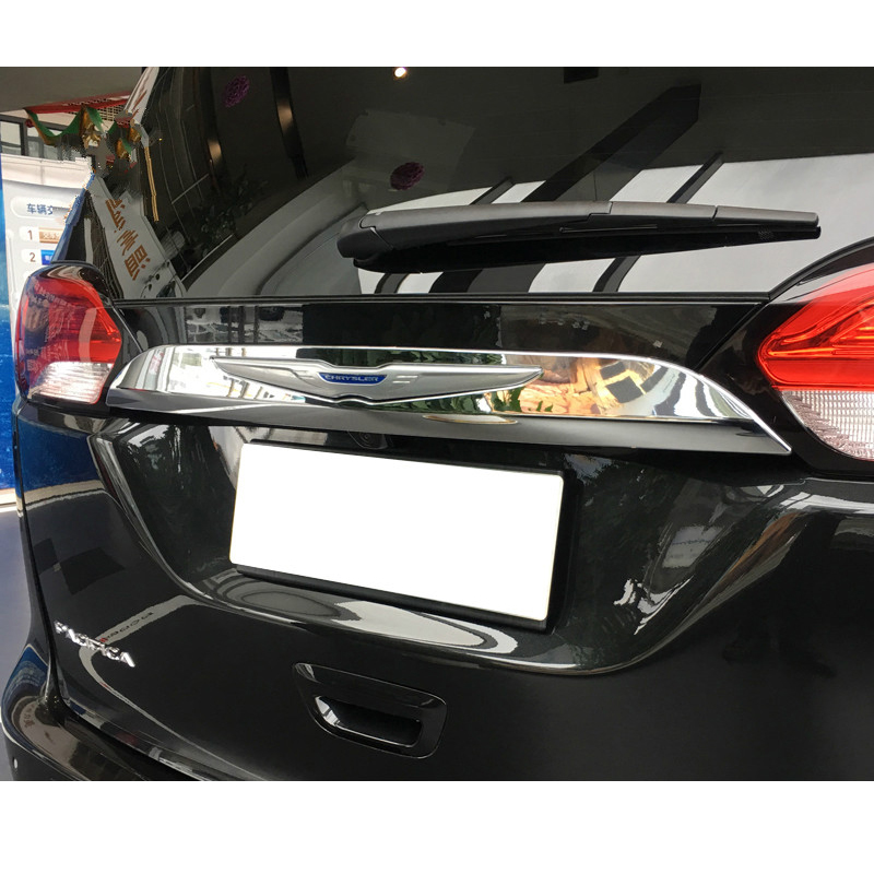 1pc Accessories ABS Rear Garnish Trunk Lid Cover Trim Boot Tailgate Molding For CHRYSLER PACIFICA 2017 2018 in Tank Covers from Automobiles Motorcycles