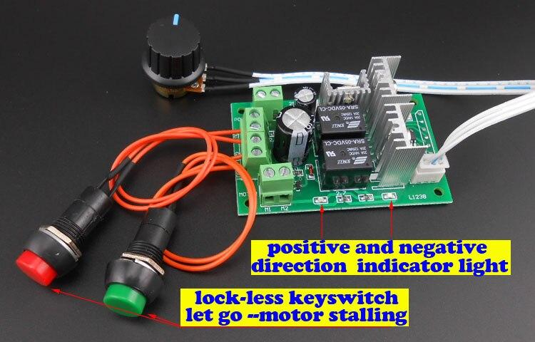 PWM DC moteur contrôleur 6V12V 24 V entraînement électrique poussoir actionneur linéaire moteur régulateur de vitesse avec bouton et Inversion Positive