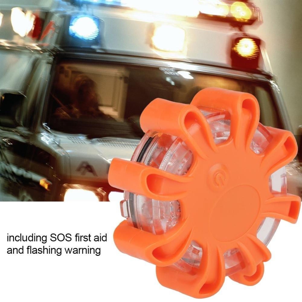 Multi-função 8 led estrada aviso piscando segurança luz de emergência para carro/barco laranja amarelo 4 funções ip44 à prova dwaterproof água