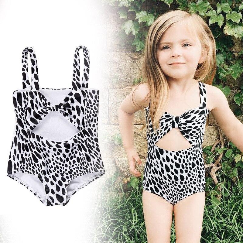 Baby Girls One-piece Leopard Print Swimsuit Toddler Girl Swimwear Infant Baby Swimsuits Children Bathing Swim Suit Kids Costume girl