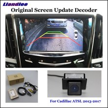 Liandlee Original Screen Update System For Cadillac ATSL 2013-2017 Rear Reverse Parking Camera / Digital Decoder / Rear camera liandlee original screen update system for mercedes benz gle class rear reverse parking camera digital decoder rear camera